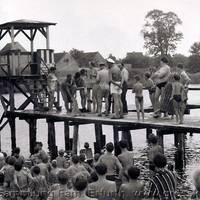 Sommerfest an der Badeanstalt am Kühnauer See, Juni 1965 [(c) Familie Erfurth]