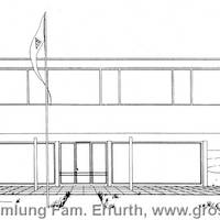 Entwurf der Kühnauer Badeanstalt des Bauhäuslers Howard Dearstyne von 1932 [(c) Familie Erfurth]