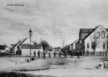 Postkarte Grosskühnau, Kreuzung bei Cafe Föse, etwa um 1920.jpg