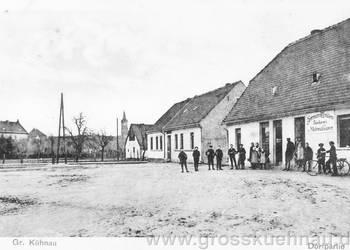 Friedrichsplatz, etwa 1920. Rechts die Bäckerei & Materialwarenhandlung von Herrmann Winkler